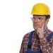 Nachdenklicher Bauarbeiter