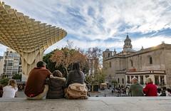 Plaza de la Encarnación (AS Marcos) Tags: sevilla spain people gente setas