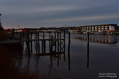 Christmas reflections at Lewes Harbor (lauren3838 photography) Tags: laurensphotography lauren3838photography landscape water reflections harbor lewes de delaware boats pier christmas canal nikon d750 dusk sky clouds sunset tamron tamron2875mm28