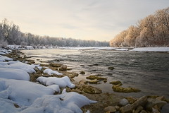 winter morning (koaxial) Tags: p2075834836stackajpg koaxial winter munich münchen river isar riverbank ufer stadt city sky sunrise landscape landschaft nature natur snow schnee february 2019