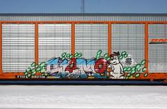 Slomo (quiet-silence) Tags: graffiti graff freight fr8 train railroad railcar art slomo autorack bnsf ttgx693710