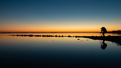blue hour with Bram Broekhoven. (Jaco Costerus.) Tags: brambroekhoven bracom sunset strandherkingen bluehour