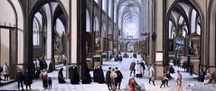 IMG_5669A Hendrik van Steenwijck l 1550-1603. Anvers Francfort sur le Main. Intérieur d'une église médiévale  Interior of a Medieval Church. vers 1585. Hambourg Kunsthalle. (jean louis mazieres) Tags: peintres peintures painting musée museum museo deutschland germany allemagne hamburg kunsthalle