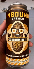 Inbound Brewing Company - Contains Nuts Peanut Butter Milk Stout (rabidscottsman) Tags: scotthendersonphotography peanutbutter milkstout beer alcohol alcoholic drink containsnuts peanut peanuts smile glasses face can beercan minnesotabeer buckteeth nut squirrel animal minneapolisminnesota peanutbuttermilkstout thursday iphone iphone8 appleiphone flickr creativity artwork goldenpeanutbutter treatyourself enjoylife squirrelwithnut beverage alcoholicbeverage ios legume verticalformat