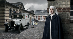 Pierrette Filloux. (blaisearnold.net) Tags: france infirmière médecine hopital nurse car ambulance uniforme uniform vintage unic truck 30s 40s