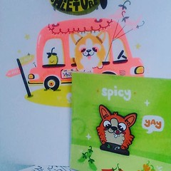 Ilustración y pin de @spicyelcorgi :) (EliasPostart) Tags: instagram sticker tumblr elias post art iustración dibujo diseño