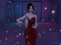 Entrance no.380 (Curiosse) Tags: gown red ruby fur boa white 2019 luxeparis new release march gorgeous