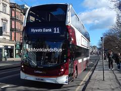 Lothian Buses 1069 SJ19OWC (1) (MonklandsBus) Tags: lothianbuses 1069 sj19owc alexanderdennis enviro400xlb edinburgh princesstreet 11hyvotsbank