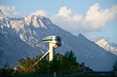 Bergisel Ski Jump Tower in Innsbruck (elzbietafazel) Tags: sport wintersports skijumping sportsfacilities alps tirol tyrol innsbruck bergisel mountains austria olympicgames fourhillstournament games famousplace scenic alpineview tourism traveldestination