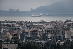 just offshore (pbo31) Tags: mountainview oakland california eastbay alamedacounty city color nikon d810 march 2019 boury pbo31 over view rain wet port harbor ship container sail upper rockridge