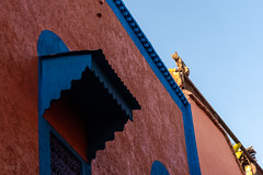Cat on a Hot Timber Roof, Marrakech, Morocco (KSAG Photography) Tags: cat architecture colour building morocco marrakesh marrakech africa northafrica medina city urban nikon march 2019