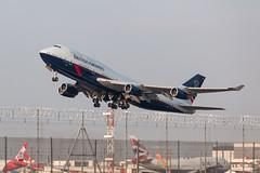 G-BNLY, Heathrow (III) (Angus Duncan) Tags: british britishairways boeing747 boeing 744 747 airbus airport aircraft airways britishairways744 britishairways747 britishairwaysboeing747 britishairwaysboeing747400 heathrow heathrowairport baheathrow ba landor landor747 baretro baretro747 retro classic airway gbnly bnly classicbritishairways