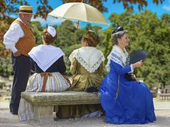 La robe bleue de Claudine (Xtian du Gard) Tags: xtiandugard bleu robe costumes tradition folklore arlésienne femme women