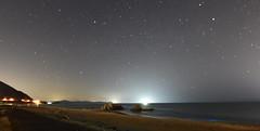 starry night beach (ekato gifu) Tags: stars beach suishohama fishinglight nikon fisheye 16mm orion searock wintertriangle