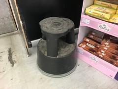 (Sam Tait) Tags: supermarket stool step wheel wheeled sprung spring steps aid reach tower shop shoppe britain convenience store mini mart market old skool school