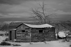 Patchwork Shed (arbyreed) Tags: arbyreed shed old forgotten abandoned snow winter cold monochrome bw blackandwhtie unused grandcountyutah