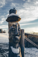 Wooden Head (Bephep2010) Tags: 2018 7markiii aeschi aeschibeispiez alpha bern bäume herbst himmel holz ilce7m3 kopf sel1635z schnee schweiz skulptur sony switzerland wolken autumn clouds fall head sculpture sky snow trees wood ⍺7iii kantonbern ch