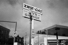 """Kwik-gas"".    #35mm #film #pointandshoot #kodak #blackandwhite #olympus #olympusXA #olympusxa (bnroman94) Tags: 35mm film pointandshoot kodak blackandwhite olympus olympusxa"
