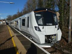 717003-GordonHill-P1531414 (citytransportinfo) Tags: 717003 siemens desirocity train railway greatnorthern station gordonhill sunshine bluesky winter class717