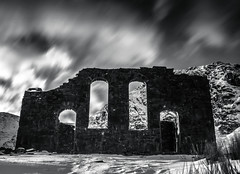 Cwmorthin Chapel (joshdgeorge7) Tags: chapel church welsh wales cwmorthin ffestiniog slate mine winter snow cold contrast blackandwhite pentax smc filter longexposure nd holy mining