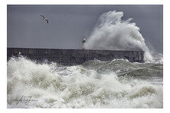 Lighthouse Overwhelmed (angeladj1) Tags: storm eric february 2019 seas winds waves port newhaven sussex