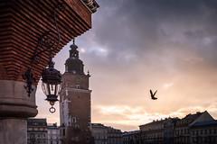 Kraków - Der Tag verstummt (Rafael Zenon Wagner) Tags: sunset sundown sonnenuntergang dof perspektive himmel sky licht light sonne sun stimmung mood