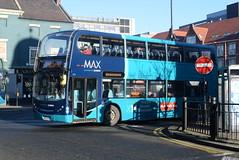 ANE 7517 @ Newcastle-upon-Tyne Eldon Square/Haymarket bus station (ianjpoole) Tags: arriva north east alexander dennis enviro 400 nk09fnd 7517 working route x20 newcastleupontyne haymarket bus station alnwick