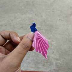 Origami peacock Designed by Bhushan (My Crafts and Arts) Tags: origamipeacock origamibird