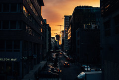 Sienna Street; Warszawa (ewitsoe) Tags: cityscape street warszawa winter erikwitsoe erikwitsoecom poland urban warsaw sienna sunset buildings building afternoon spring warm construction growing