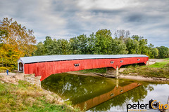 West Union Covered Bridge in Parke Countu, Indiana (Peter Ciro Photography) Tags: enjoyillinoischicagohomepuremichiganohioexploredthisiscleartchicagochicagophotographerillinoisphotographerinstagoodpicofthedayweatherlandscapephotographyskylinegreatlakesohiomichiganwisconsin exif:aperture=ƒ80 camera:make=canon exif:isospeed=160 geostate exif:lens=efs1585mmf3556isusm exif:focallength=18mm geocountry geolocation geocity camera:model=canoneos7d exif:model=canoneos7d exif:make=canon