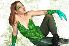wr_ECCC2018-BodyPaintPoster-Ivy-1-20x30 (VonRC) Tags: eccc2018 bodypaint batman catwoman harleyquinn poisonivy dueladent whiterabbit joker