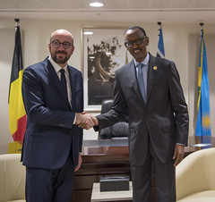 President Kagame meets with Prime Minister Charles Michel of Belgium   Kigali, 8 April 2019 (Paul Kagame) Tags: kagame pm charles michel rwanda belgium commemoration genocide