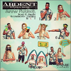 ArdentPoses - Gacha - Summer Photobooth (Ardent Poses) Tags: secondlife second life sl avatar 2nd 2ndlife avi virtual vr 3d inworld poses pose ardent photography people exclusive avatars release new broderick logan ena roane enaroane advertisement ardentposes gacha