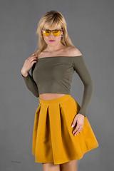 Yellow glasses (piotr_szymanek) Tags: ania aniaz woman young skinny face eyesoncamera studio portrait blonde yellow nobra 1k 20f 50f