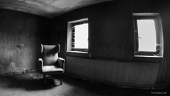 Take A Seat (kultpix) Tags: urbex lostplace seat verlassen licht sessel kloster monastery abbey lost place fenster schwarzweis blackwhite schatten shadow stuhl verfall old monochrom fisheye samyang