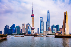 Shanghai city skyline (Patrick Foto ;)) Tags: aerialview buildingexterior chinaeastasia chineseculture citylife cloudsky coastguard constructionindustry corporatebusiness crosssection downtowndistrict eastchina famousplace financeandeconomy huangpuriver internationallandmark nauticalvessel pearljewelry photography surveillance tallhigh traveldestinations urbanskyline vacations worldmap abstract architecture asia blue business city cityscape day dusk finance futuristic journey modern office pudong river sea shanghai ship sky skyscraper tourism tower travel water waterfront peoplesrepublicofchina cn