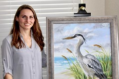 Blue Heron (Piedmont Fossil) Tags: art painting blue heron bird beach scene acrylic kelly