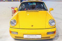 Porsche 911 964 Carrera RS. 1992 a (Miguel Angel Prieto Ciudad) Tags: driving car driver motor vehicle sports porsche auto automotive automobile yellow coche classic motorshow art germany classicautomadrid sonyalpha alpha3000 mirrorless