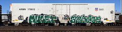 Mulet/Strange (quiet-silence) Tags: graffiti graff freight fr8 train railroad railcar art mulet strange sfb koc yups armn reefer unionpacific armn170812