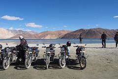 Tso Pangong, India (dan smo) Tags: royalenfield motorbike ladakh highaltitude lake mountains threeidiots