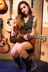 Zoe Zobrist 01/25/2019 #5 (jus10h) Tags: zoezobrist singer songwriter artist musician losangeles taylor guitar guitars namm show showroom 2019 justinhiguchi orange amplifiers