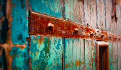 (Greg Adams Photography) Tags: door prison color wood wooden old decay rust rusty crusty band banded paint peeling angled waste easternstatepenitentiary penitentiary historic historical pennsylvania pa penna philadelphia philly hhsc2000
