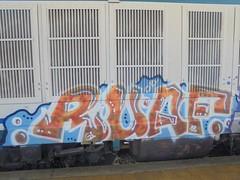 50666052_757849121255374_4677629391512010752_n (en-ri) Tags: ruaf azzurro arancione bianco train torino writing 18 2018 locomotiva locomotore locomotrice graffiti