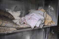 Linens (nataliekrovetz) Tags: fujifilmxt2 xt2 house abandoned abandonedhouse fire leftbehind fujifilm 27mm