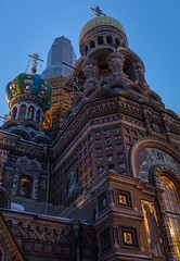 Sunrise in St. Petersburg. (Oleg.A) Tags: saintpetersburg sunrise russia church old city outdoor ancient town building dome morning blue colorful winter art orange design orthodox exterior sky cross brick yellow architecture style outdoors petersburg russian st leningradoblast ru