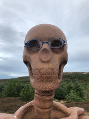 The Stare (Les Armishaw) Tags: iphone glasses rust metal sculpture scotland sutherland borgie theunknown installation art