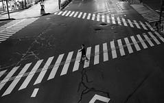 (cherco) Tags: pasodecebra zebracrossing japan nagano city nicht road lines man alone lonely composition ciudad canon composicion calle canoneos5diii solitario solitary silhouette silueta shadow sombra street shadows urban happyplanet asiafavorites