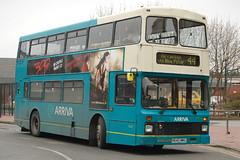 Arriva Volvo Olympian 4642 R642MNU - Derby (dwb transport photos) Tags: arriva volvo olympian northerncounties paladin bus decker 4642 r642mnu derby