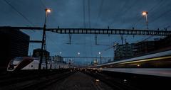 I hear the train a comin' (helbldan) Tags: train zurich sbb bluehour cityscape city railway