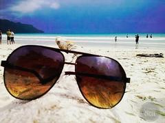 Shades of Nature️️ (tarun_beck37@yahoo.co.in) Tags: nature ocean beach shades travel vacation sea blue calm tree